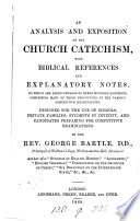 An Analysis and Exposition of the Church Catechism     Book PDF