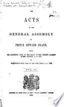 The Acts of the General Assembly of Prince Edward Island  1853 1862