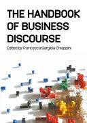 Handbook of Business Discourse