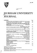 Pdf The Durham University Journal