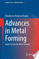 Advances in Metal Forming Book