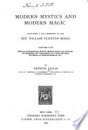 Modern Mystics and Modern Magic