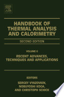 Handbook of Thermal Analysis and Calorimetry
