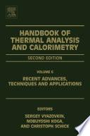 Handbook Of Thermal Analysis And Calorimetry Book PDF