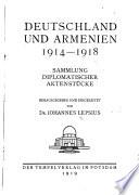 Deutschland und Armenien, 1914-1918