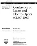 Conference On Lasers And Electro Optics Book PDF
