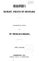 Shakspere s Hamlet  Prince of Denmark