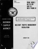 Military Traffic Management Regulation