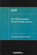 The 2011 Annotated Ontario Family Law Act