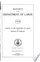 Reports Of The Department Of Labor 1913 1920