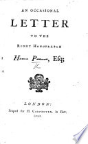 An Occasional Letter to the Right Honourable H---- P----- [Henry Pelham] Esq. [On the character of Sully.].pdf