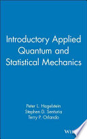 Introductory Applied Quantum And Statistical Mechanics Book PDF