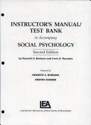Social Psychology Inst Manual 2nd