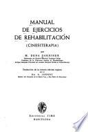 Manual de ejecicios de rehabilitación (cinesiterapia)