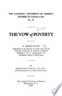 The Vow of Poverty