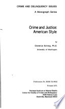 Crime And Justice American Style