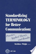 Standardizing Terminology For Better Communication