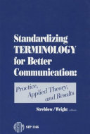 Standardizing Terminology for Better Communication