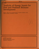 Analysis Of Energy Inputs For Peat And Peatland Biomass Development Book PDF