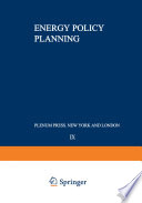 Energy Policy Planning Book