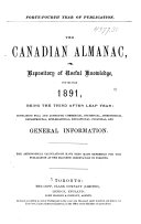 The Canadian Almanac and Repository of Useful Knowledge
