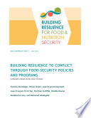 Building resilience to conflict through food security policies and programs