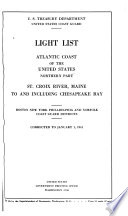 Light List, Atlantic Coast of the United States, Northern Part