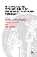 Pdf Psychoanalytic Psychotherapy of the Severely Disturbed Adolescent Telecharger