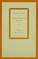 Justice V  Law in Greek Political Thought