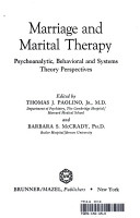 Marriage And Marital Therapy