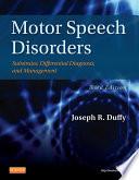 Motor Speech Disorders   E Book Book