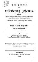 Johannes des Gottbesprachten, eschatologische Gesichte, genannt; Apokalypse: Drei ersten Kapitel
