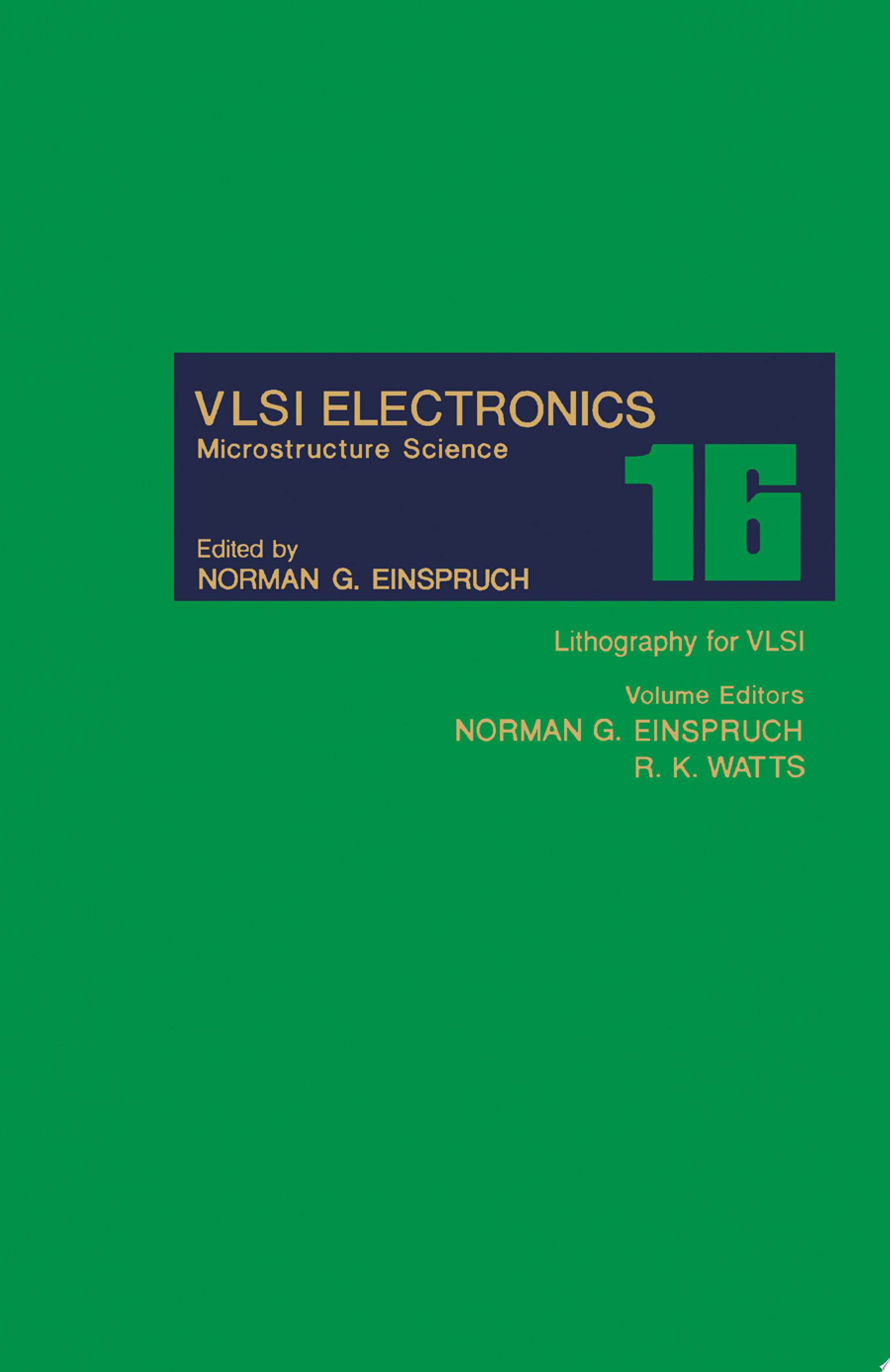 Lithography for VLSI