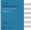 Wide Staff Wirebound Manuscript Paper  Aqua Cover