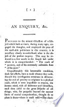 An Enquiry  etc      the cause of poverty  and of the extremely miserable state of the poor