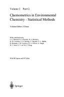 Chemometrics in Environmental Chemistry   Statistical Methods