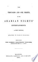 The Thousand And One Nights Or The Arabian Night S Entertainments