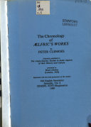 The Chronology of Aelfric s Works