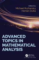 Advanced Topics in Mathematical Analysis Pdf/ePub eBook