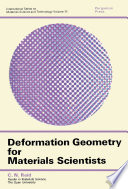 Deformation Geometry for Materials Scientists