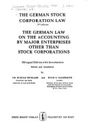 The German stock corporation law