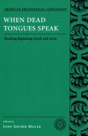 Pdf When Dead Tongues Speak Telecharger