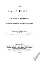 The Last Times And The Great Consummation Revised And Enlarged Edition