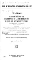 Office of Education Appropriations for 1971