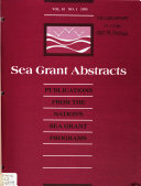 Sea Grant Abstracts Book