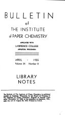Bulletin of the Institute of Paper Chemistry