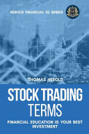 Stock Trading Terms Financial Education Is Your Best Investment Book PDF