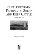 supplementary feeding of sheep and beef cattle hinton david g
