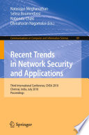 Recent Trends in Network Security and Applications Book
