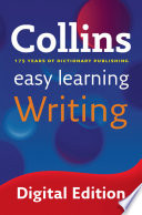 Easy Learning Writing  Collins Easy Learning English  Book